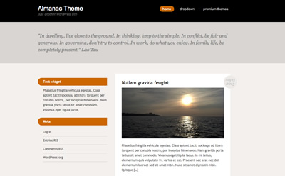 Almanac, free responsive WordPress theme