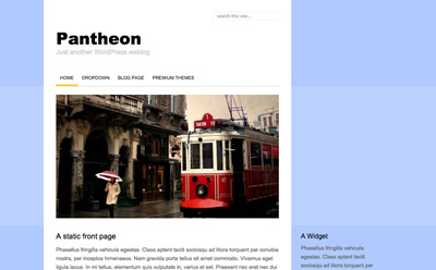 Pantheon, free minimalistic WordPress theme