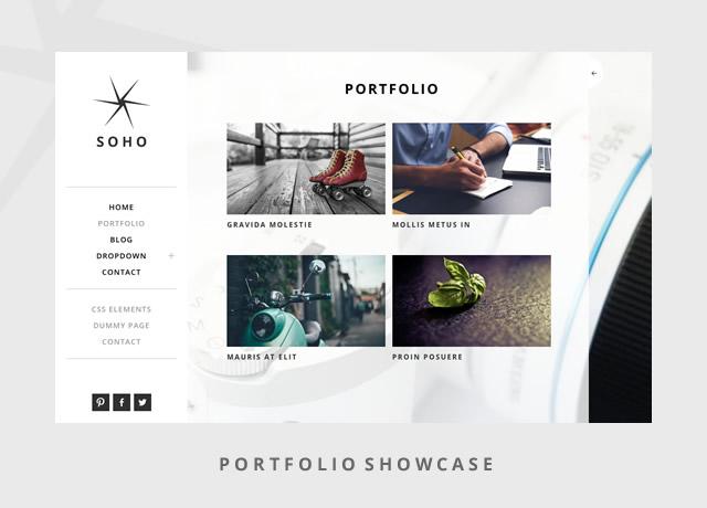 Soho portfolio WordPress theme